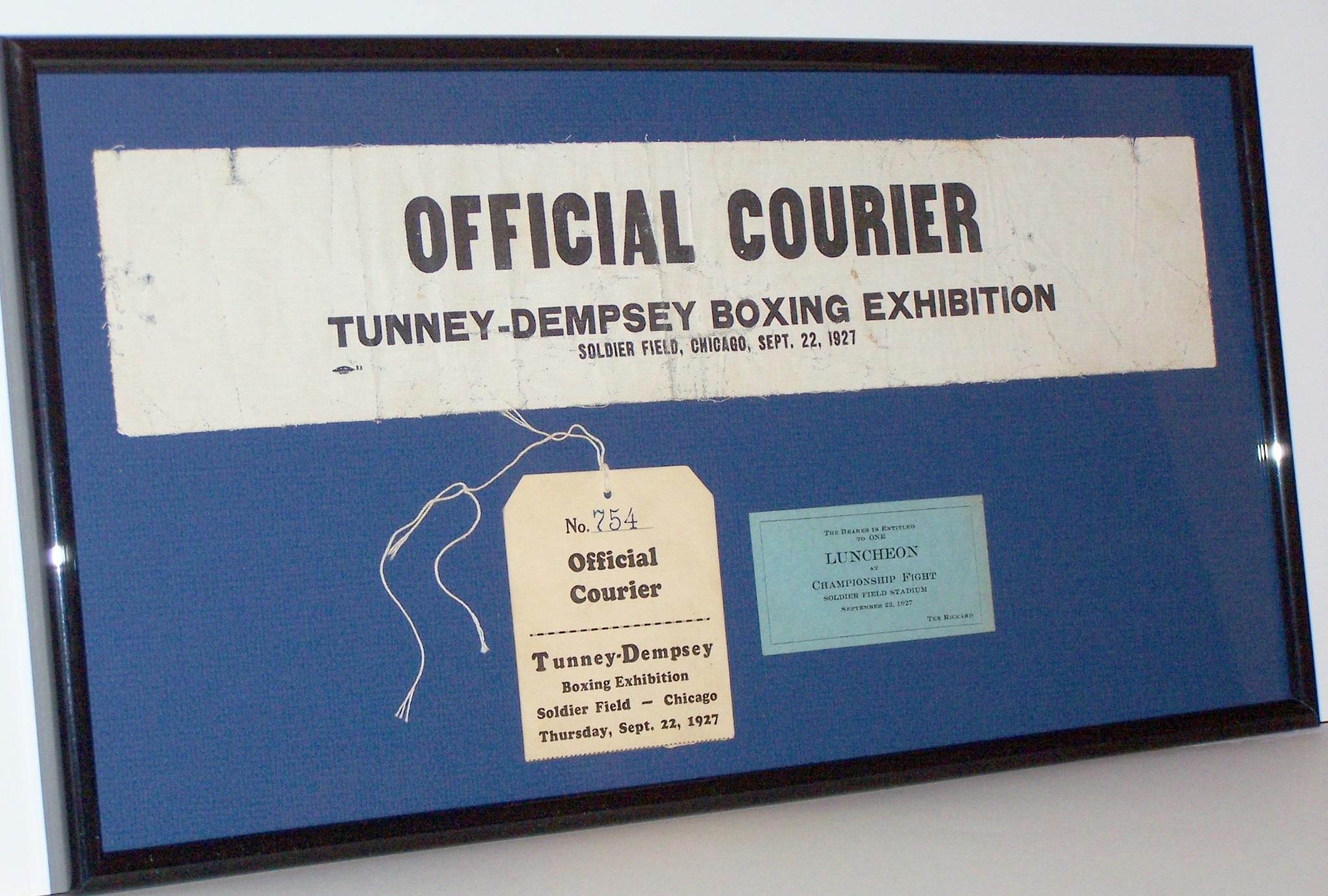 GENE TUNNEY vs JACK DEMPSEY POSTER PLAQUE BOXING PHOTO PLAQUE SOLDIERS' FIELD Boxing Fan Apparel & Souvenirs